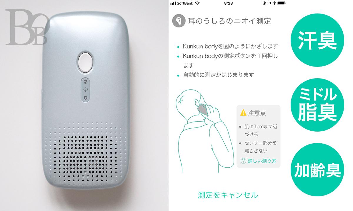 kunkun bodyで測定できる耳の後ろの臭いの種類