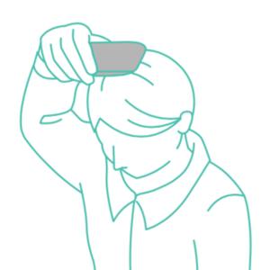 kunkun bodyの頭の測り方の図