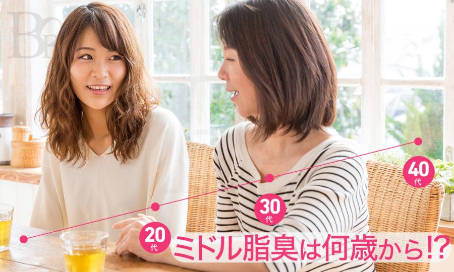 ミドル脂臭は何歳から発生する?20代でも要注意